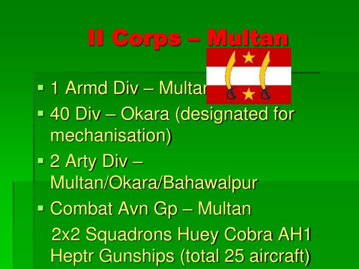 II Corps – Multan