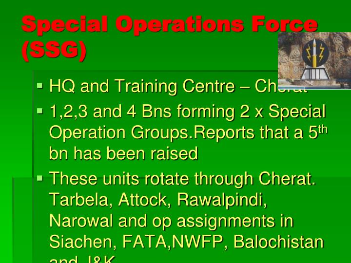Special Operations Force (SSG)