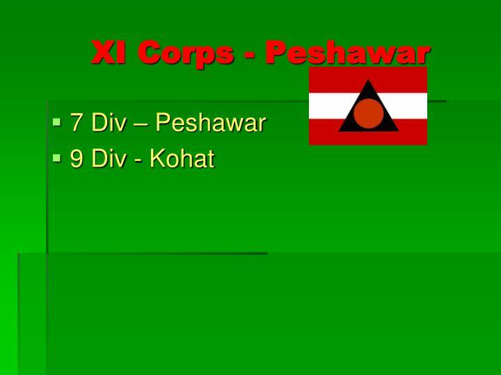 XI Corps - Peshawar