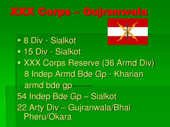 XXX Corps – Gujranwala