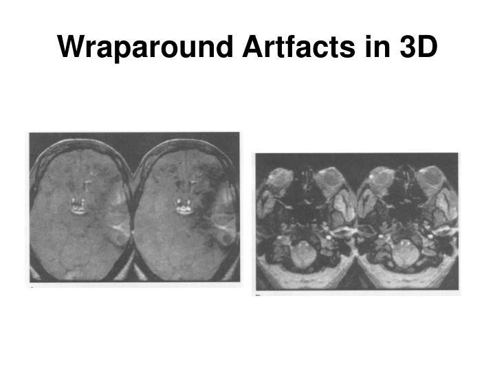 Wraparound Artfacts in 3D