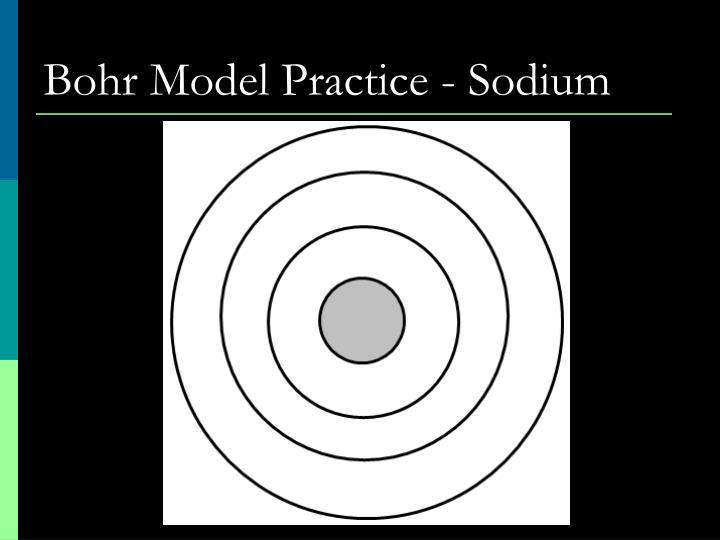 Bohr Model Practice - Sodium