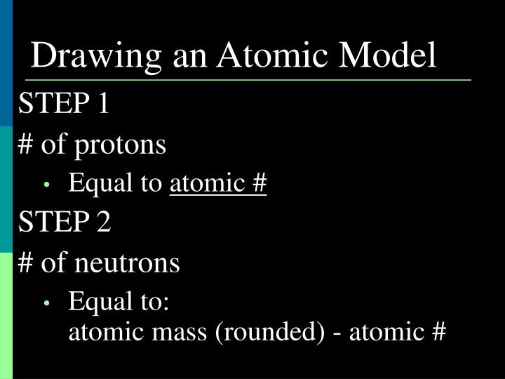 Drawing an Atomic Model