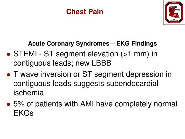 Acute Coronary Syndromes – EKG Findings
