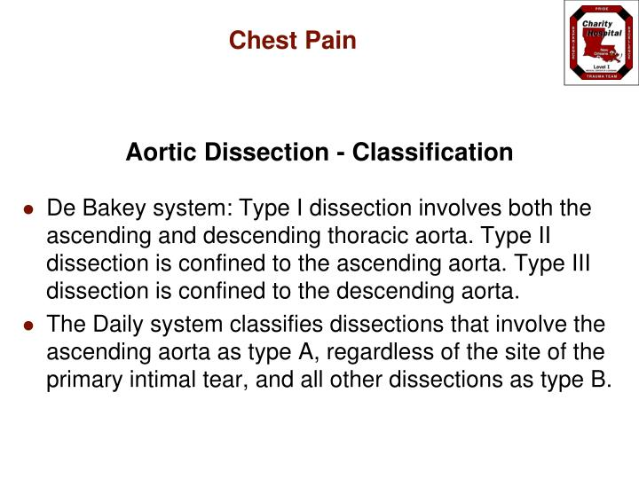 Aortic Dissection - Classification
