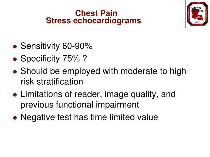 Stress echocardiograms