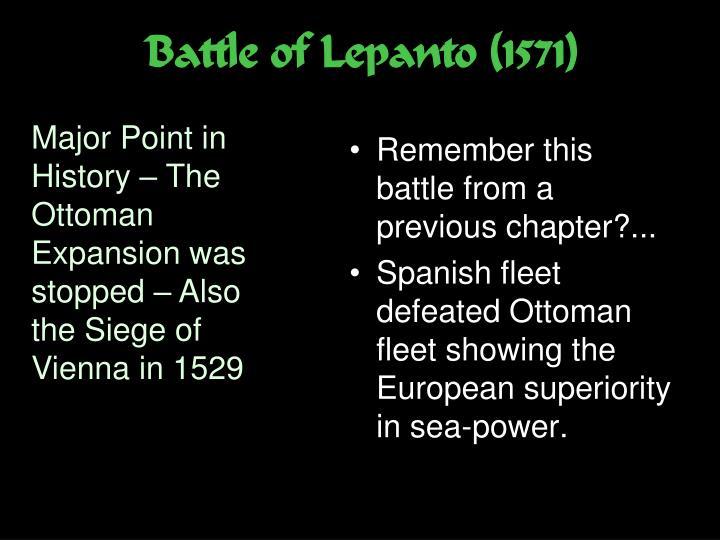 Battle of Lepanto (1571)