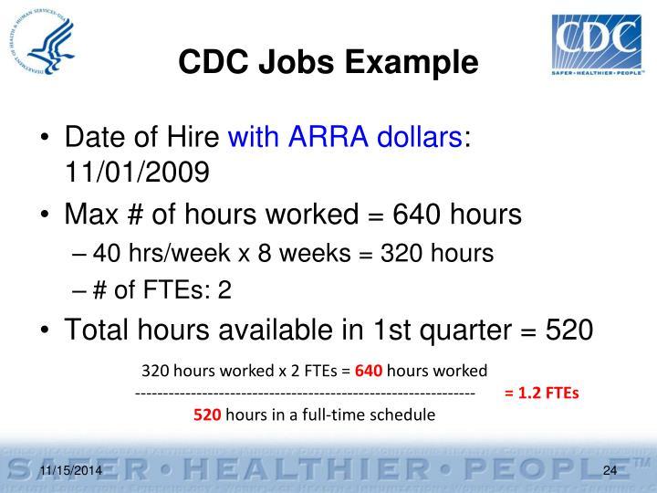 CDC Jobs Example