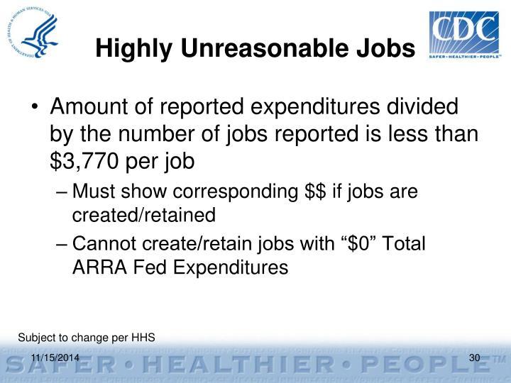 Highly Unreasonable Jobs