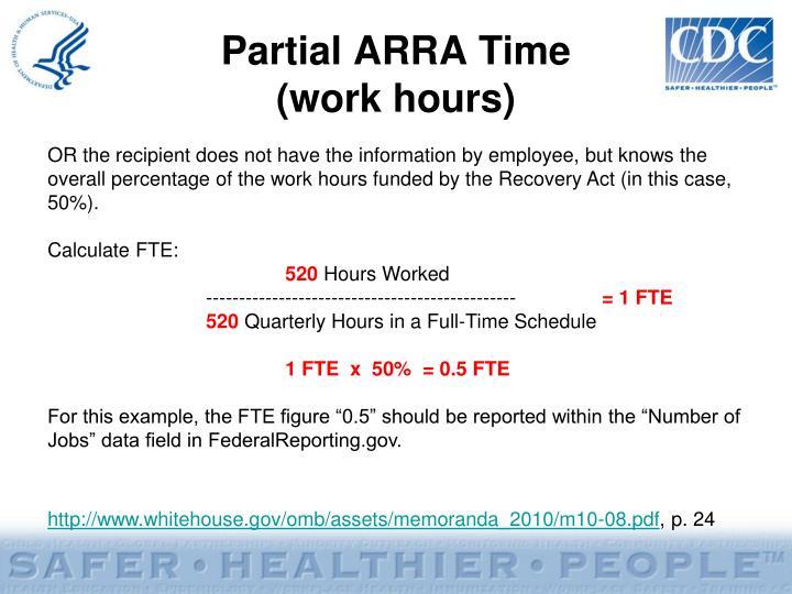 Partial ARRA Time