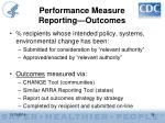 performance measure reporting outcomes