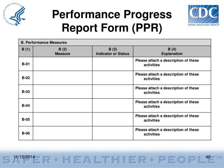 Performance Progress