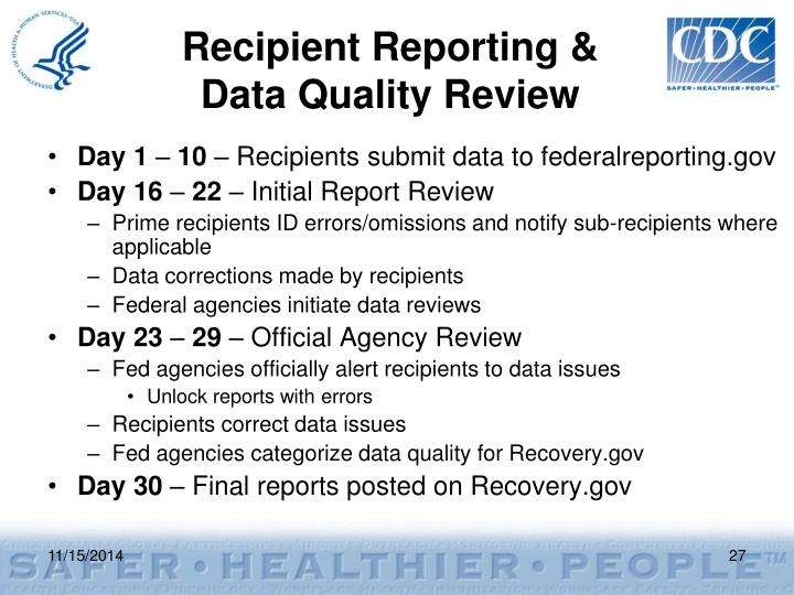Recipient Reporting &