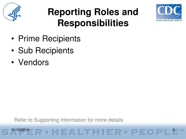 Reporting Roles and