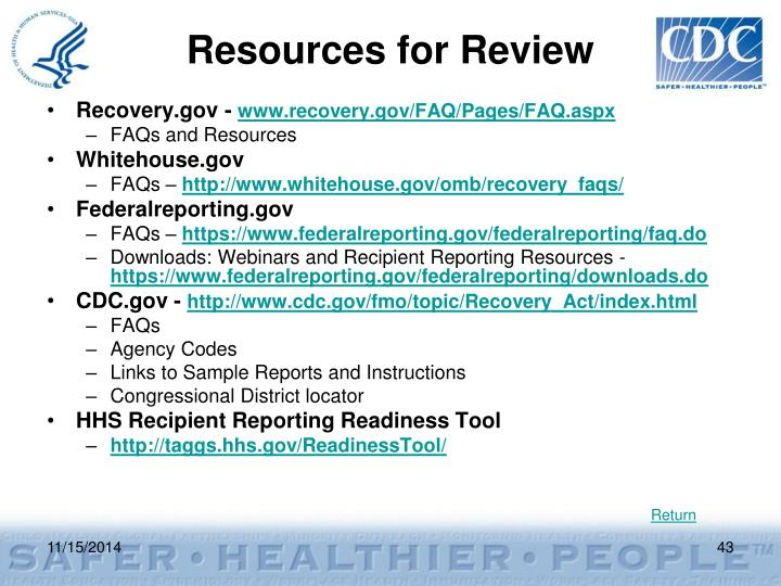 Resources for Review