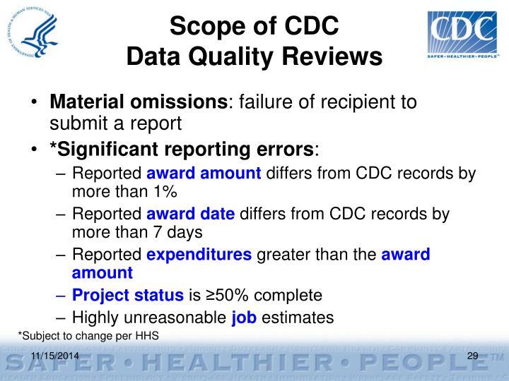 Scope of CDC