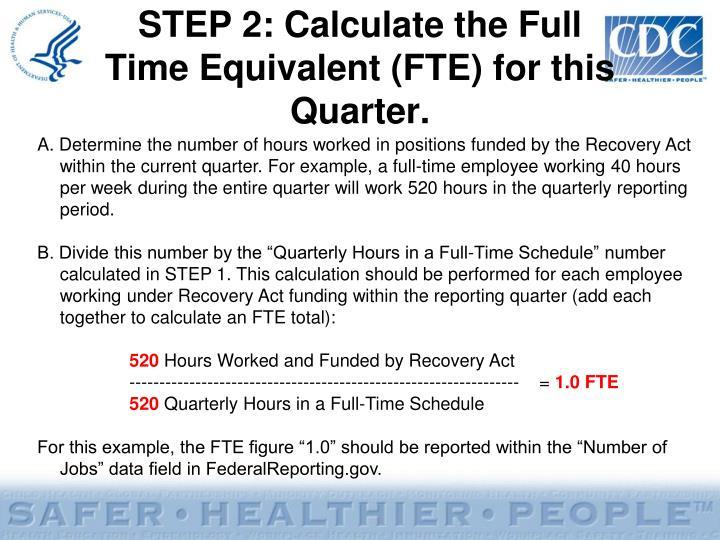 STEP 2: Calculate the Full