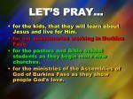 let s pray