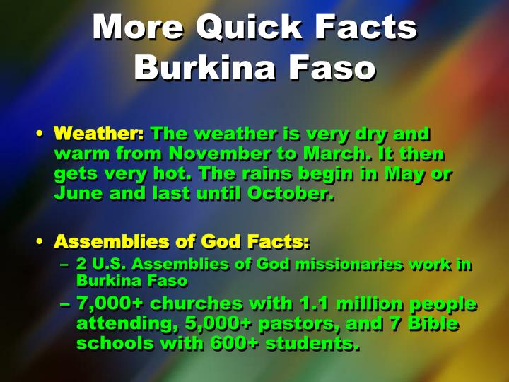 More Quick Facts
