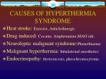 causes of hyperthermia syndrome