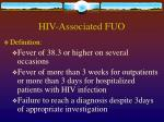 hiv associated fuo