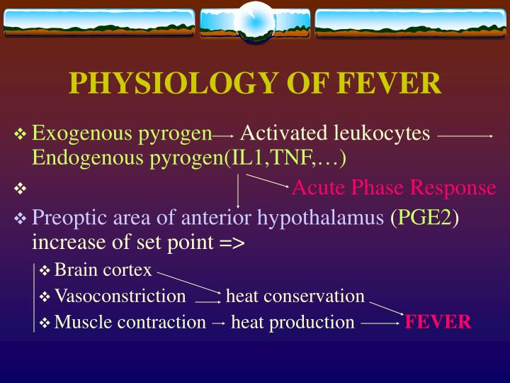 PHYSIOLOGY OF FEVER