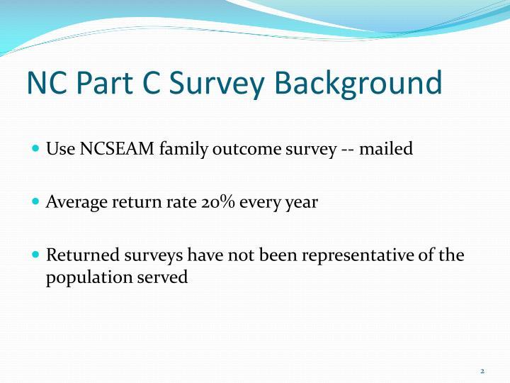 NC Part C Survey Background