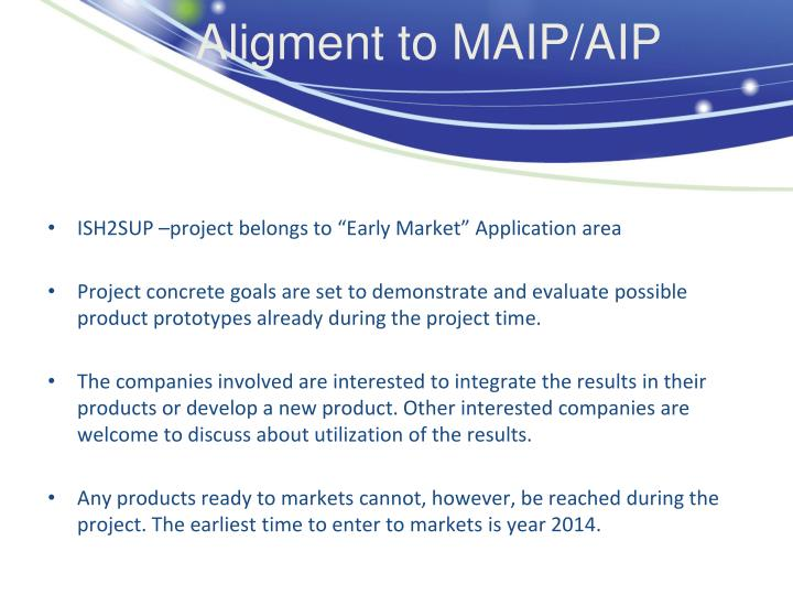 Aligment to MAIP/AIP