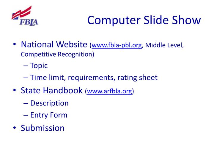 Computer Slide Show