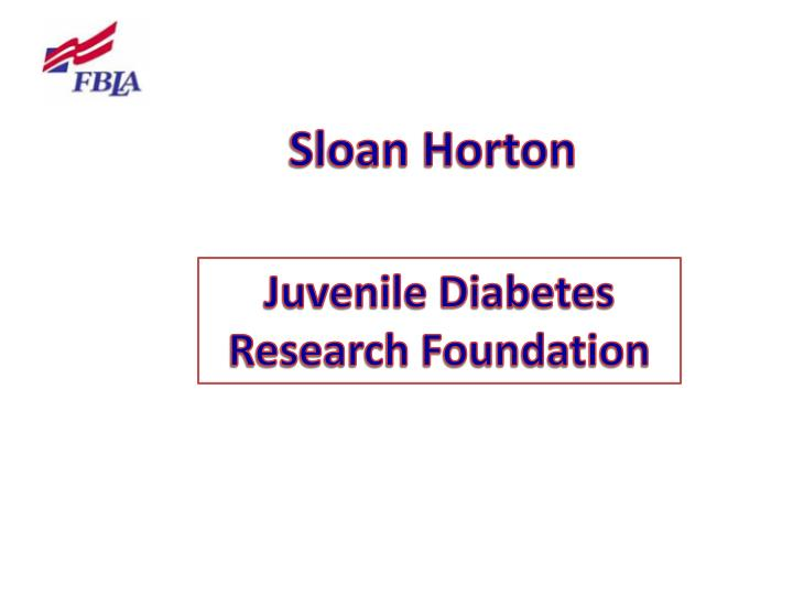 Sloan Horton