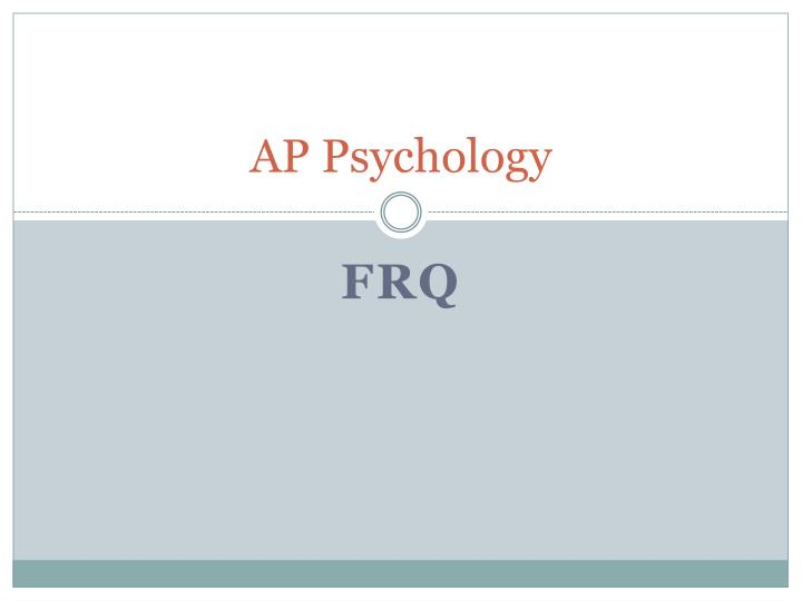 ap psychology essays rubrics