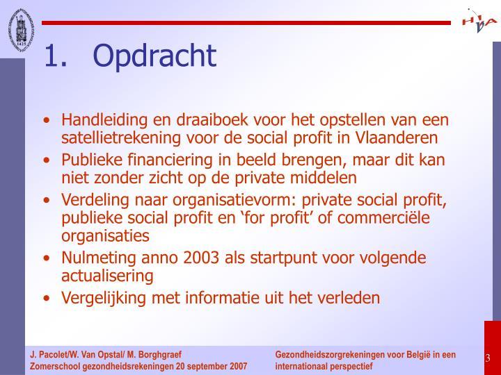 Handleiding en draaiboek voor het opstellen van een satellietrekening voor de social profit in Vlaanderen