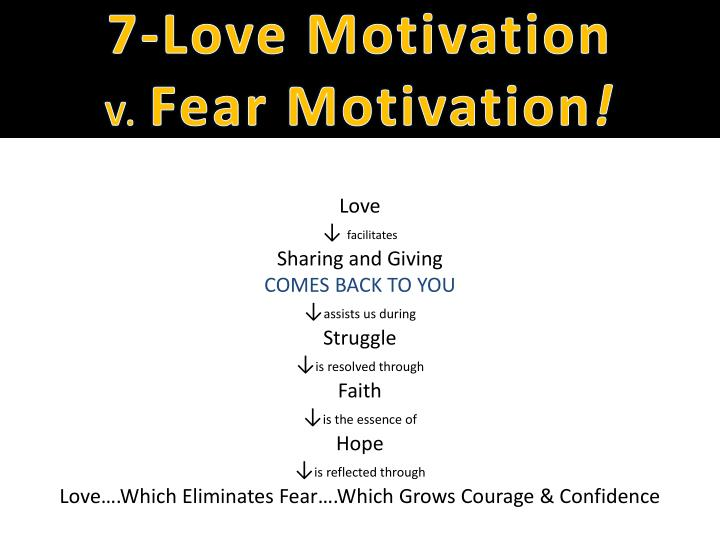 7-Love Motivation