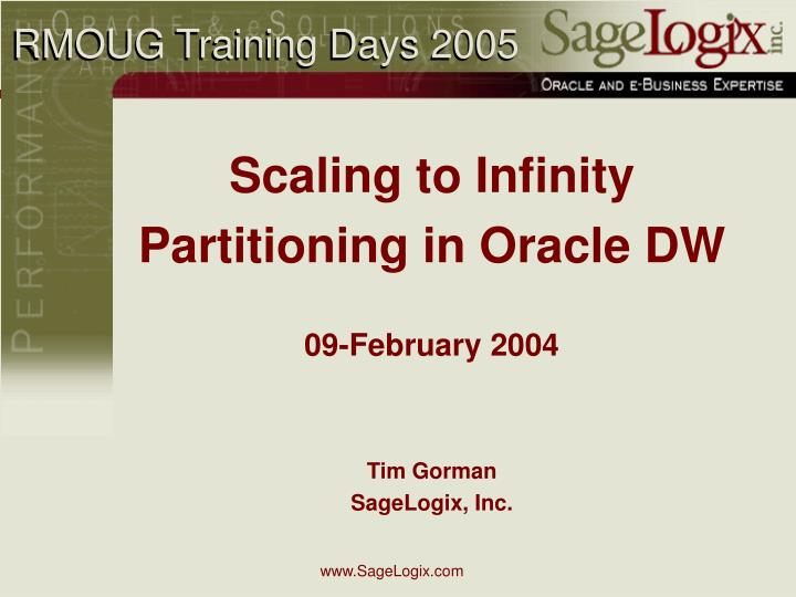Rmoug training days 2005