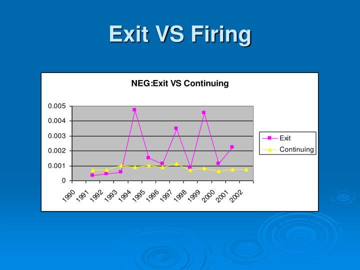 Exit VS Firing