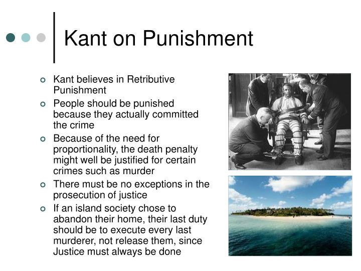 kant s object to utilitarian justifications of Punishment offers community members the wrong sorts of reasons to comply with  the law  objections fails a system of punishment aimed at deterrence (suitably  constrained) is  utilitarian and retributive punishment, 64 j phil 91, 93–102   autonomous moral agents—or in kantian terms, as ends in themselves3 this.
