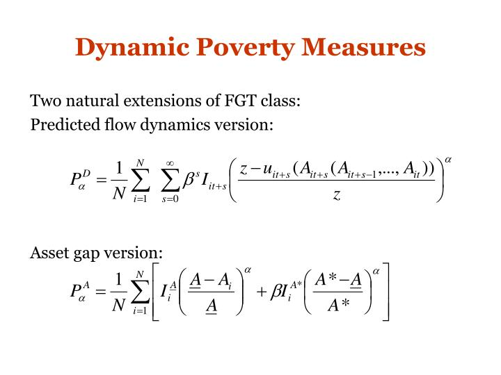 Dynamic Poverty Measures