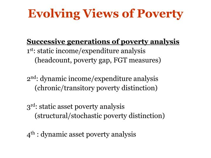 Evolving views of poverty