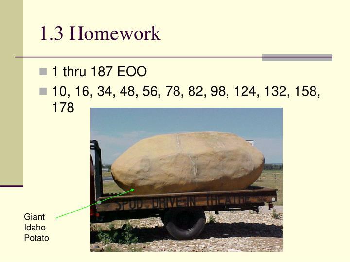 1.3 Homework