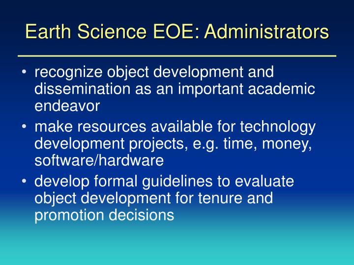 Earth Science EOE: Administrators