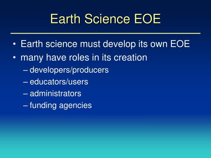 Earth Science EOE