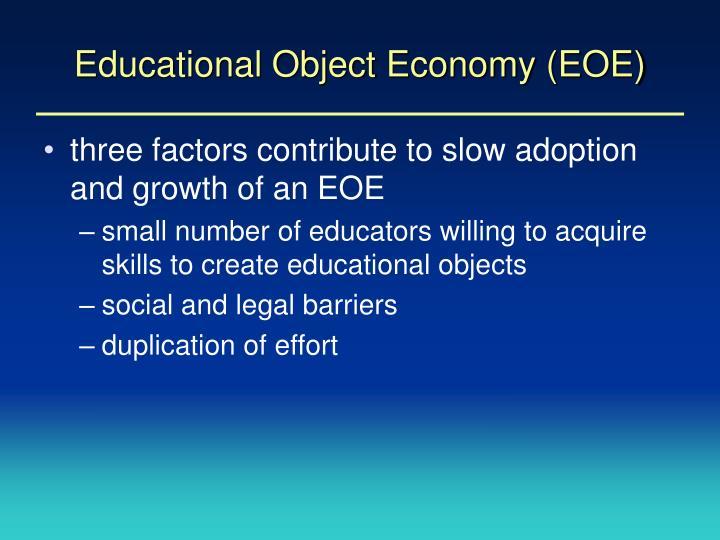 Educational Object Economy (EOE)