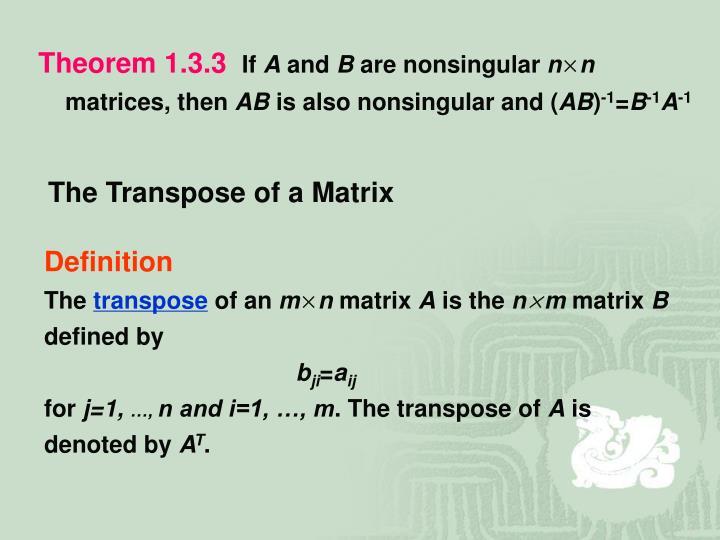 Theorem 1.3.3