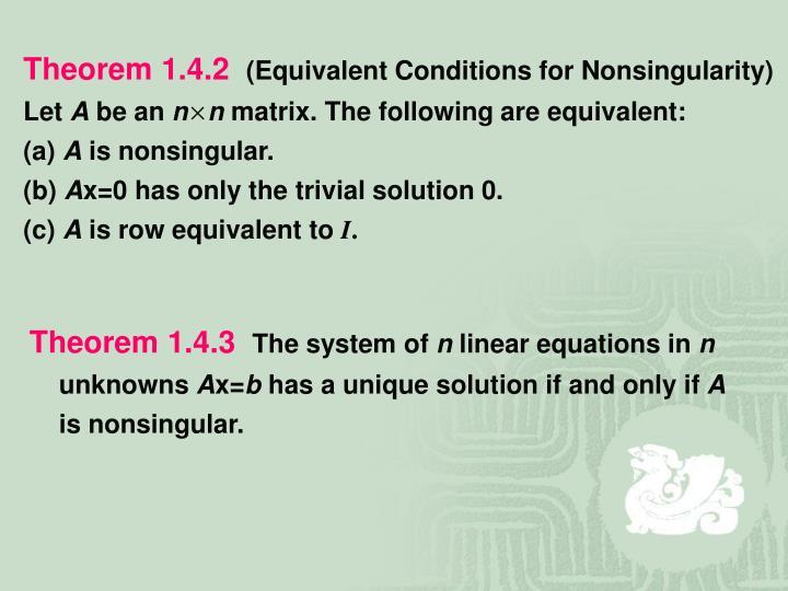 Theorem 1.4.2