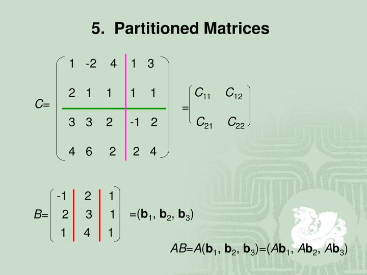 5.  Partitioned Matrices