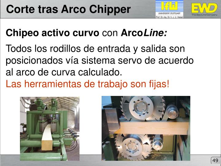Corte tras Arco Chipper