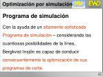 optimizaci n por simulaci n