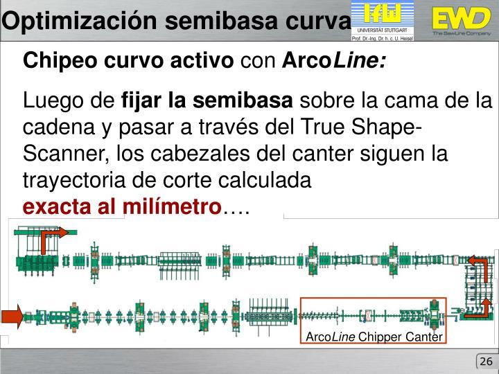 Optimización semibasa curva