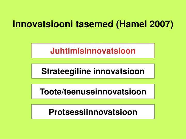 Innovatsiooni tasemed (Hamel 2007)