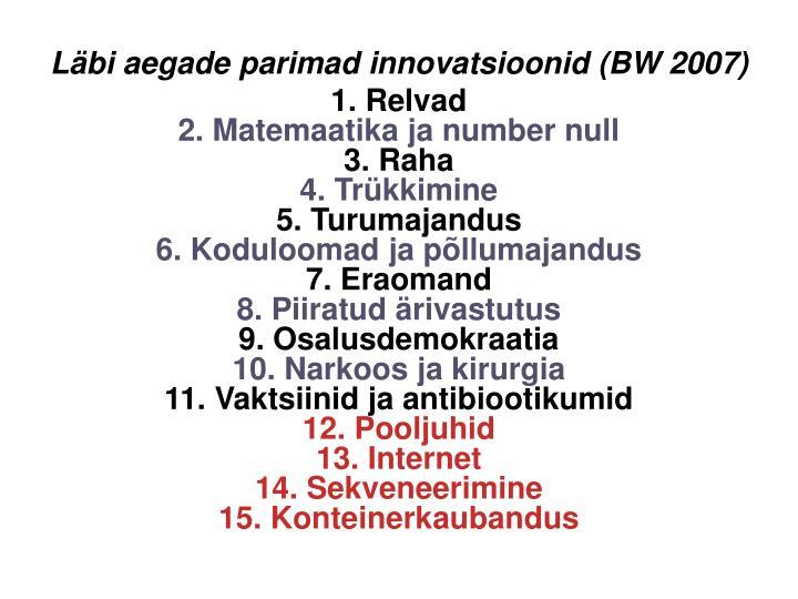 Lbi aegade parimad innovatsioonid (BW 2007)